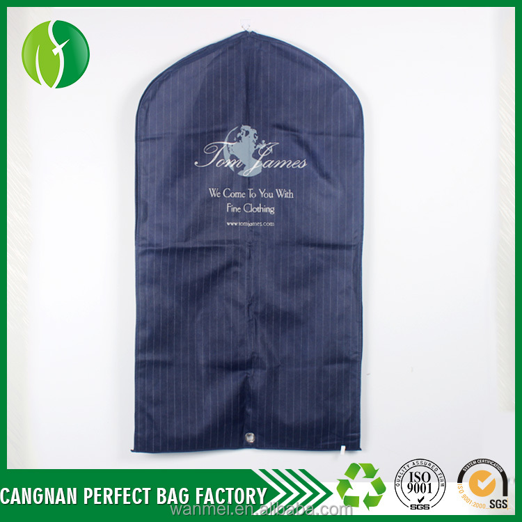 2017 new products suit nonwoven foldable breathable garment bag for Travel