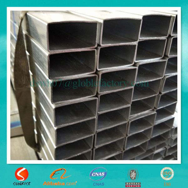 galvanized low carbon rectangle welded iron tubular