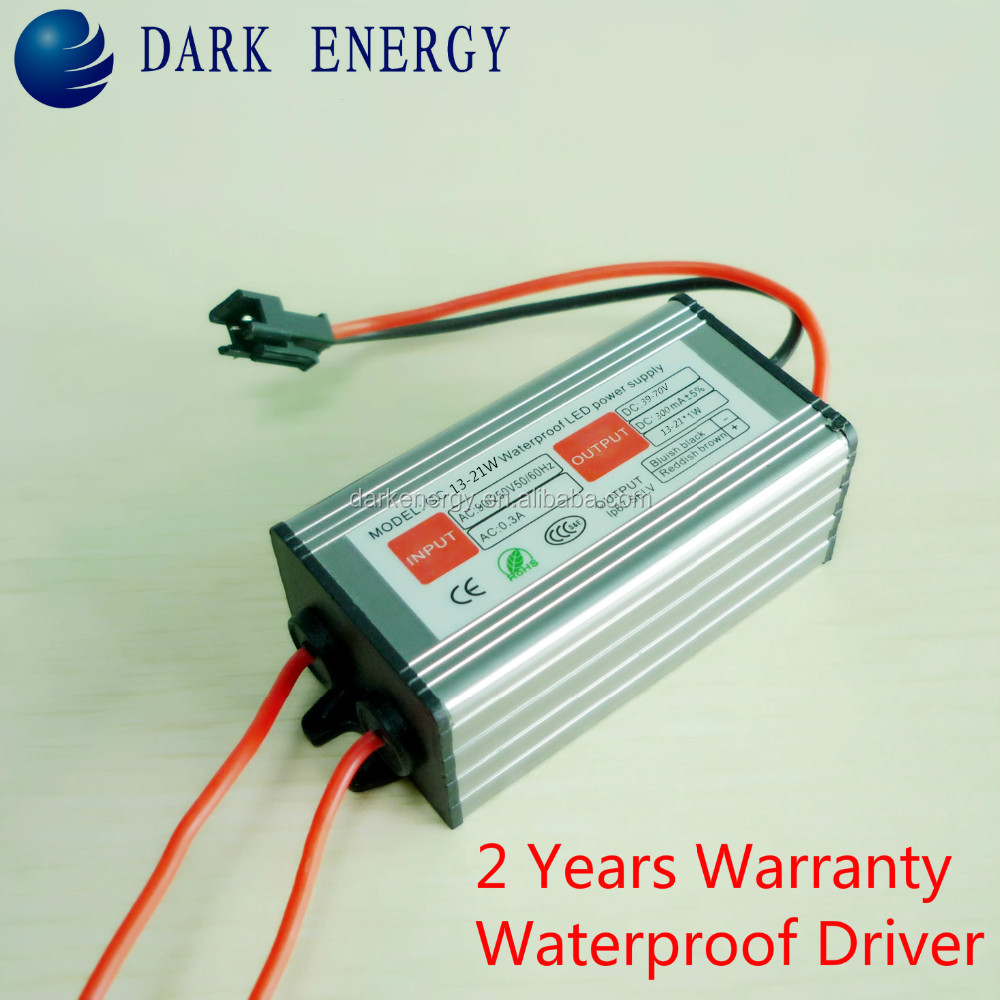 beautiful design led power supply waterproof 39-72v 250ma 21w led driver