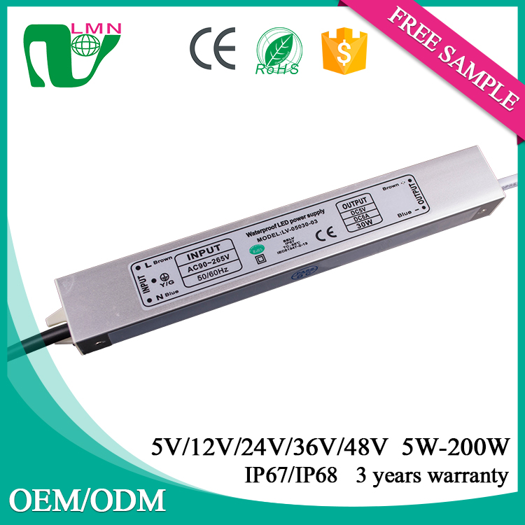 5V 30W Aluminum cheap waterproof led power supply with CE ROHS