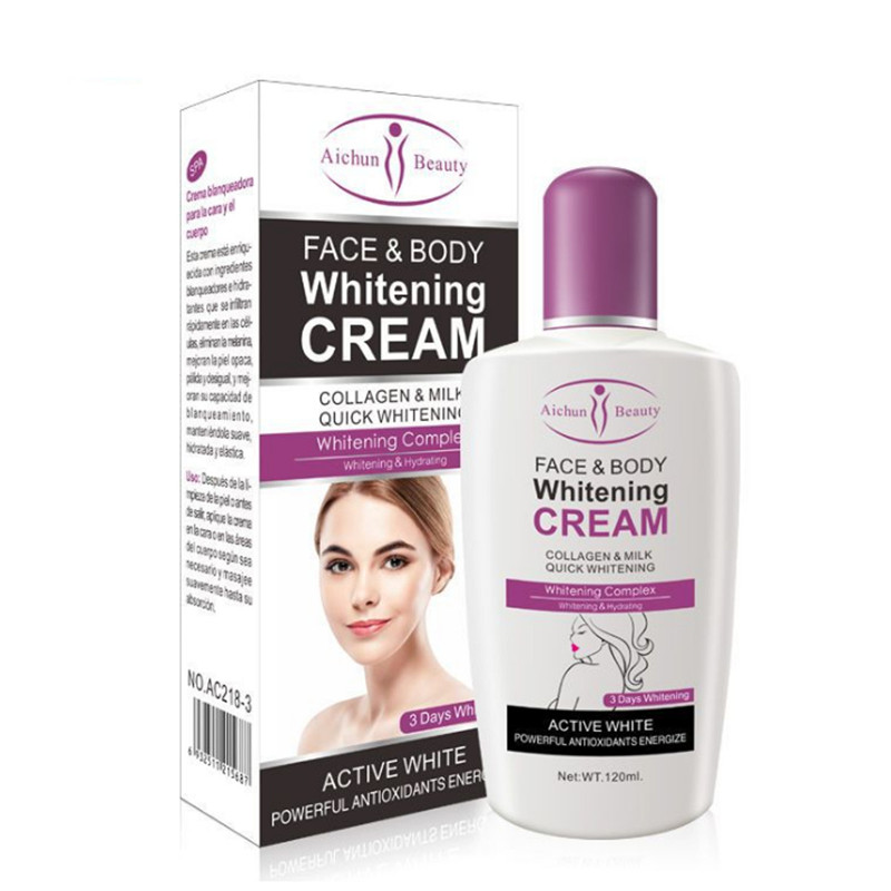 Aichun Body <strong>Cream</strong> For Dark Skin Bleaching Brightening Body Lotion Whitening <strong>Cream</strong> 120ml Private Parts Formula Armpit Whitener