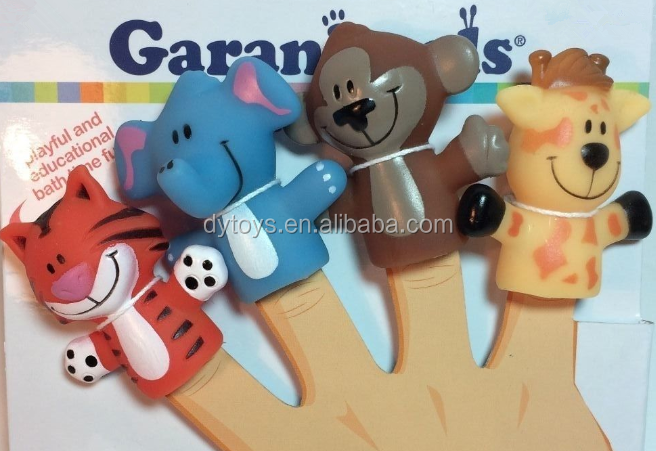 Baby monkey blue animal custom finger puppets
