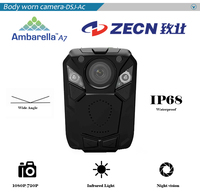 Best selling 16/ 32/64/128GB Ambarella HD 1080P Police Body Camera IR Vision 123 Degree