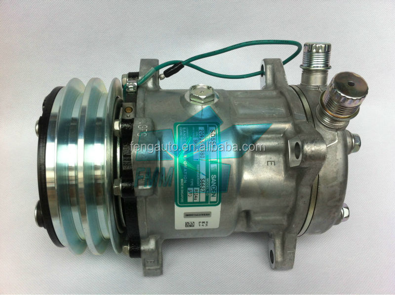 hot sell S6627 for original sanden SD5S14 ac compressor SD508 24v OR universal car