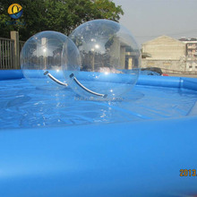 EN14960 floating water pool ball, inflatable water walking balls with pool