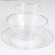 4 in 1 Clear Poly Styrene Disposable Plastic Tableware D