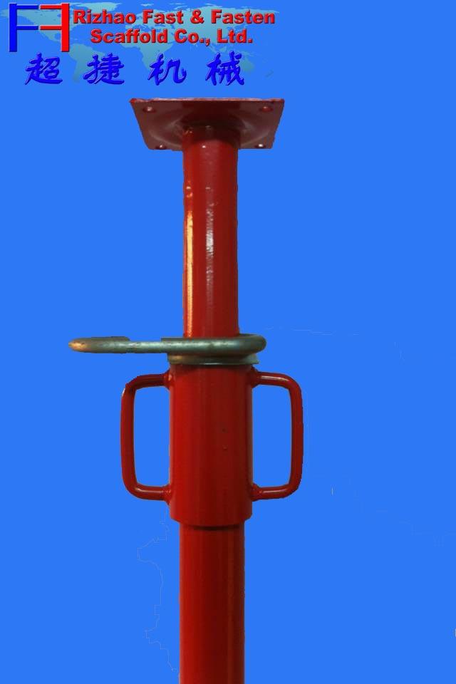 Adjustable Steel Post Shores : Adjustable construction scaffolding prop steel post shore