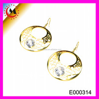 FANCY HOLLOW OUT 24K GOLD EARRINGS FOR SALE,LATEST NEW FASHION 24K GOLD EARRINGS