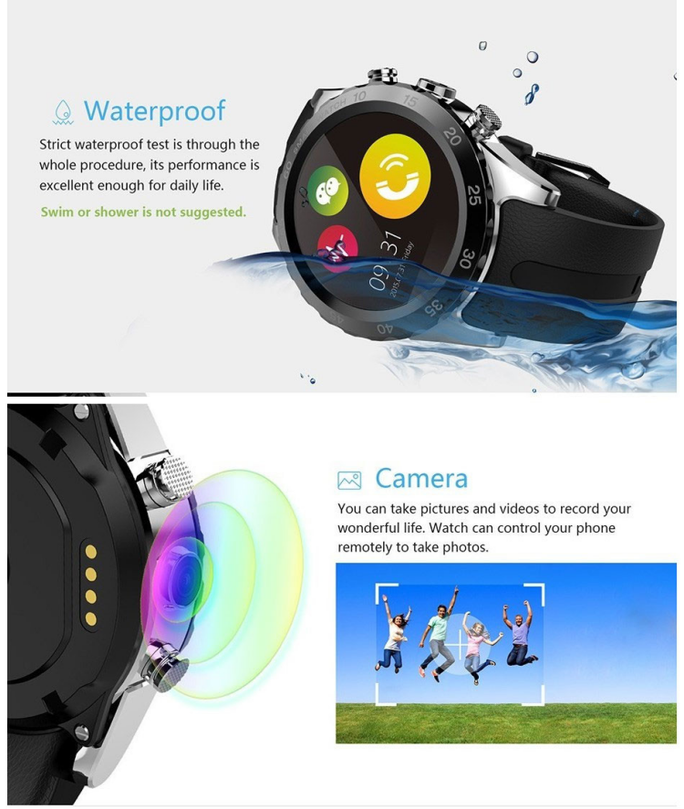 2017 new bluetooth smart watch k88h