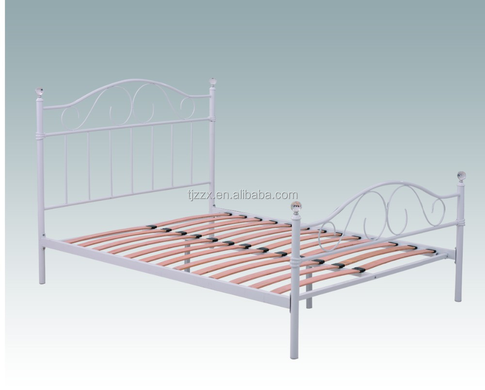 Latest European Wrought Iron Metal Double Bed Frame