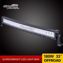 Sanmak Curved 33inch LED Bar High Power wholesale CE RoHS IP67 180w offroad light bar