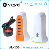 Hot sale mobile phone accessories factory universal 6 port usb mobile charger