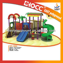 Plastic children outdoor playground equipment for 3 to 15 years old