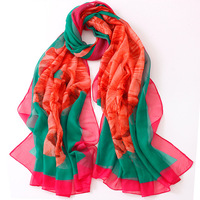 new ladies long scarf Chiffon Scarf twill scarves wholesale high-grade four general sunscreen