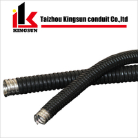 Liquid tight pvc coated metal flexible accordion pipe conduit