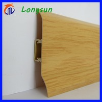 Wood plastic pvc composite floor skirting board