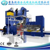 QR3220 apron shot blasting equipment for auto surface cleaning