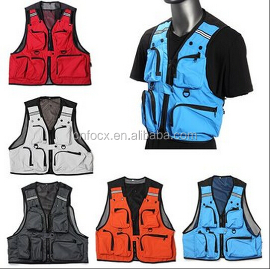 Multi Pockets Fishing Hunting Mesh Vest / Mens Outdoor Jacket / Pockets Mesh Vest