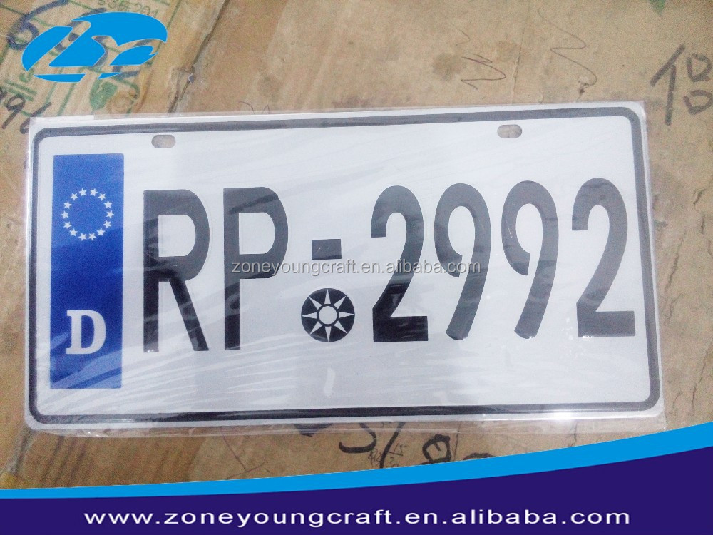 European countries high quality car license number plate