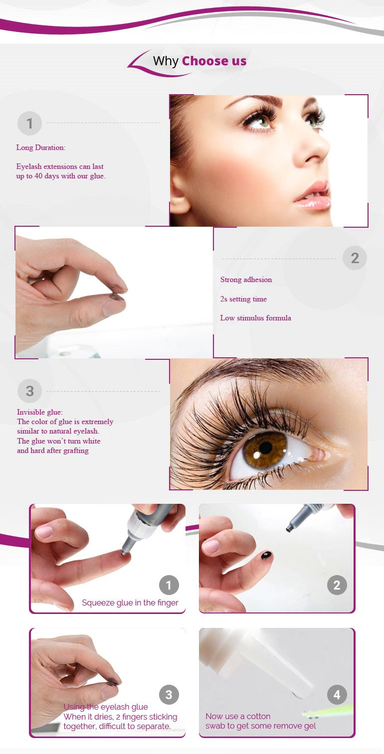 Strong adhesive eyelash glue 2s fast drying
