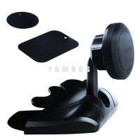 360 Degree Rotating CD Slot Phone Mount Magnetic Cell Phone GPS Mounting Bracket Cradle-less