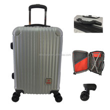 Wholesale weight scale digital handle ABS Trolley Bag Travelling Luggage Wheeled Flight Case Hard Trolly Bag Cabin Suitcase