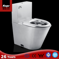 Bathroom stainless steel One piece toilet Water closet