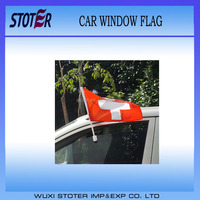 Switzerland Car window Flags With Holder for UEFA Euro 2016 France Car Flag