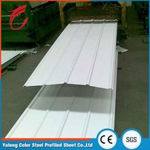 Rich luster maintenance free iron sheet corrugated white roof sheet