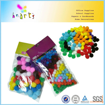 craft tinsel acrylic pom poms in china