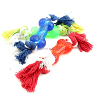 Hot sale cotton rope sex toy with PVC bone pet chew toy