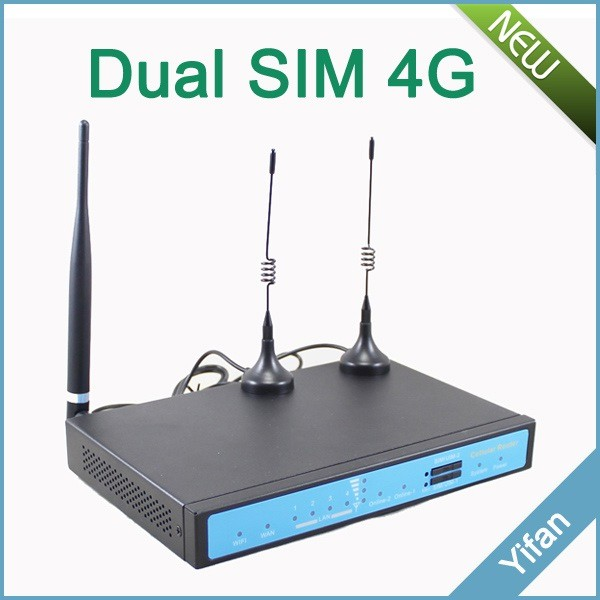CAT4 150M 3g 4g lte modem VPN dual sim 4g LTE router wifi with sim card slot