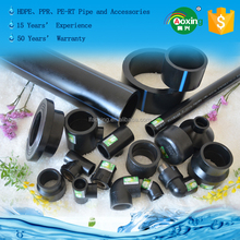 Ex-factory Price Polyethylene PE HDPE Black Poly Pipe and fittings for Water Supply System