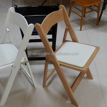 Wholesale China Modern Patio Leisure Banquet Wedding Birch Wood Folding Chair