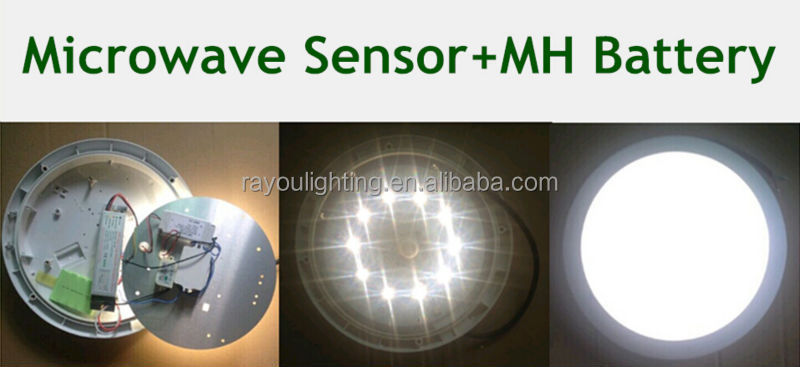 indoor motion sensor light 15w 24w, microwave sensor led ceiling light ip65, surface mounted ceiling lamp for corridor