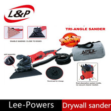 dustless electric drywall sander with automatic vacuum system