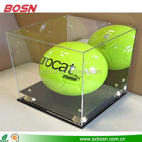 high quality acrylic display case acrylic soccer display box crystal acrylic covers for display