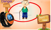 Alibaba top selling sos panic button gps wrist watch tracker for kids adult elderly personal two way communication