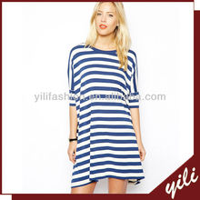ladies casual dresses pictures, stripe jersey t shirt dress