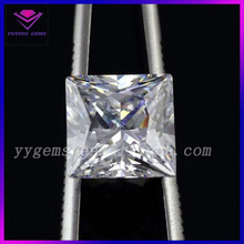 Square Shape Gemstone Cubic Zirconia White Color CZ Stone