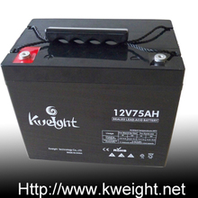 long lasting led emergency light battery gel 12V 75Ah solar lead acid battery