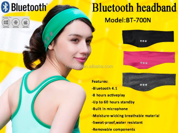 Hot New 2016 Hairband Earphone Music Bluetooth Headband for Jogging Sport
