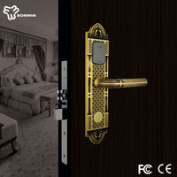 Best price for electronic antique brass fire alarm door lock system