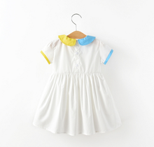 Hot sale party baby sweet style girls puffy dress for kids