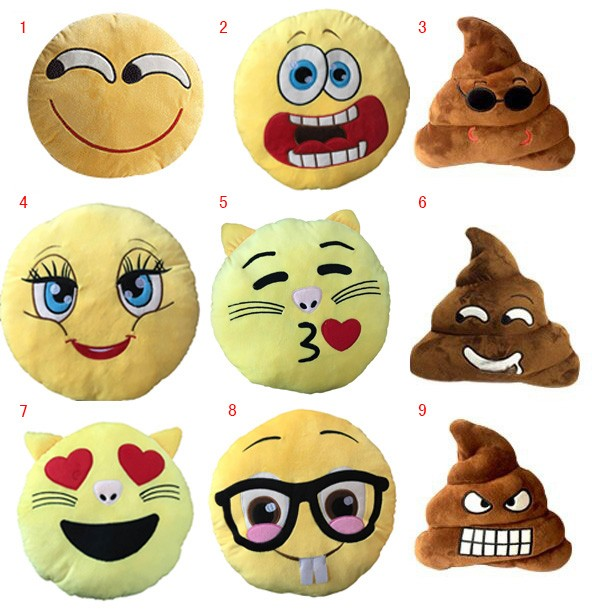 Custom Made cute emoji pillow For Sale