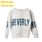 Custom Design Brand name Logo stitch Dry fit AU size custom hangtag Beige Round neck Couple Sweater without hood