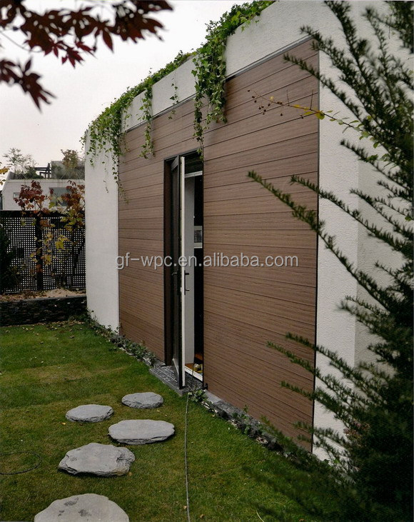 Teak color wood plastic composite waterproof Wall Panel Cladding with SGS