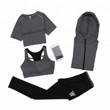 PT Sports Yoga Suit, Women's 4 Piece Activewear Set, Running Suit Gym Outfit Workout Sports Wear, Fitness Training Set