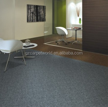 Plain Color Cushion Back Carpet Tile For Bank,Conference Room,House ,Office Used