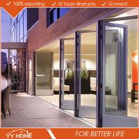 Australian Standard double glazing aluminum lightweight folding door